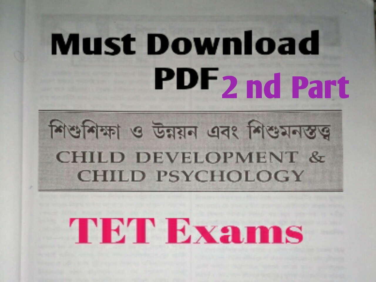 Download Child Development and Child Psychology PDF Book Part 2 - GK