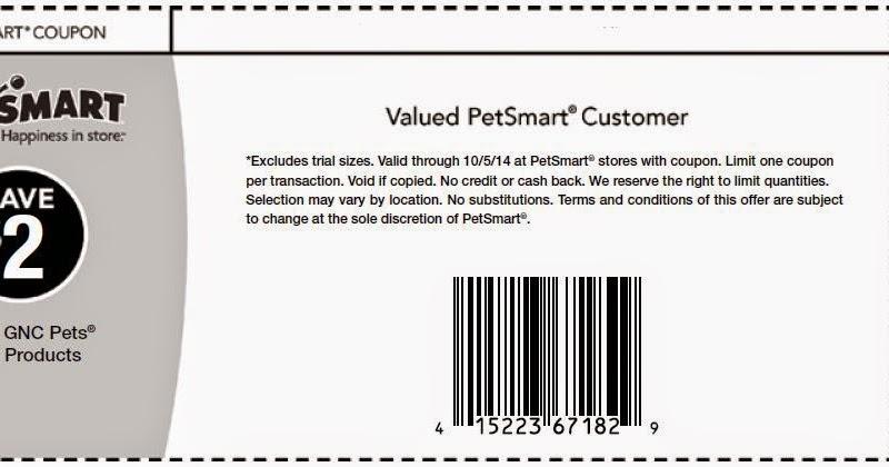 Petsmart Gnc Dog Food Coupon