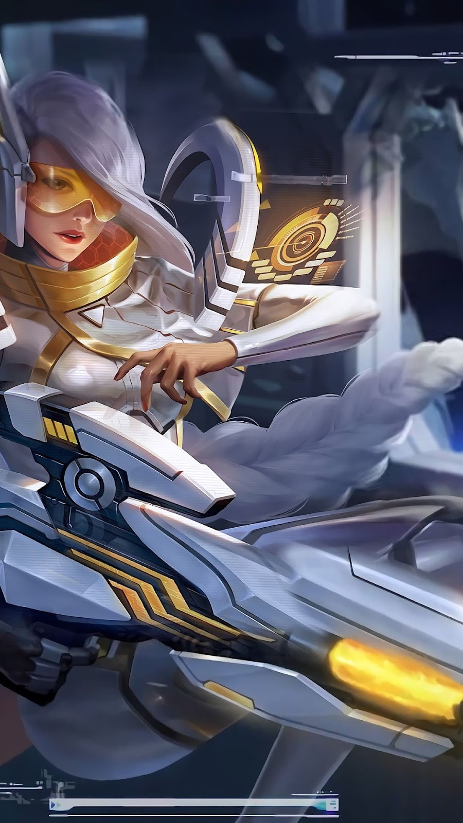 Wallpaper Lesley Stelaris Ghost Skin Mobile Legends HD for Android and iOS
