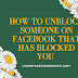 How to unblock someone on Facebook that has blocked you - Messenger!