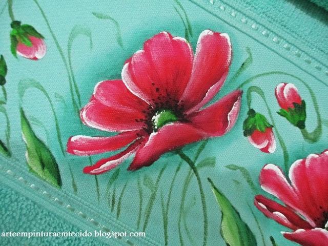 jogo de banho pintura em tecido