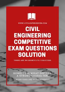 Civil Engineering Competitive Exam Questions | JMRC JE Civil Exam Paper Solution