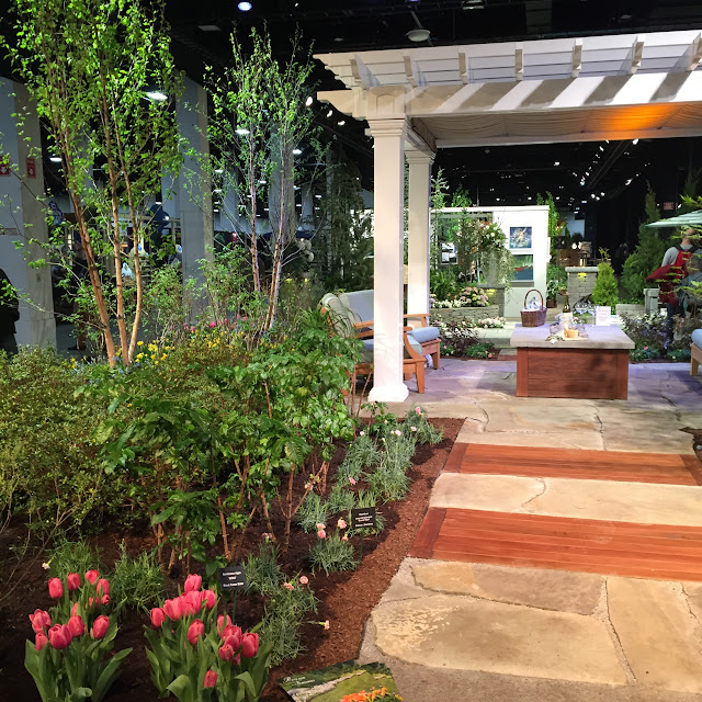 I want this!  What a dreamy patio and arbor | Boston Flower & Garden Show 2017