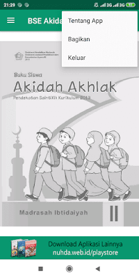 Aplikasi Buku Siswa Akidah Ahlak Kelas 2 MI Kurikulum 2013 Revisi 2015