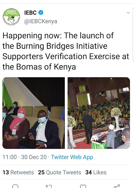 Burning Bridges Initiative as termed by IEBC tweet photo