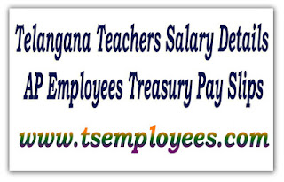 TS Employee Pay Slips Online Salary Certificate Details