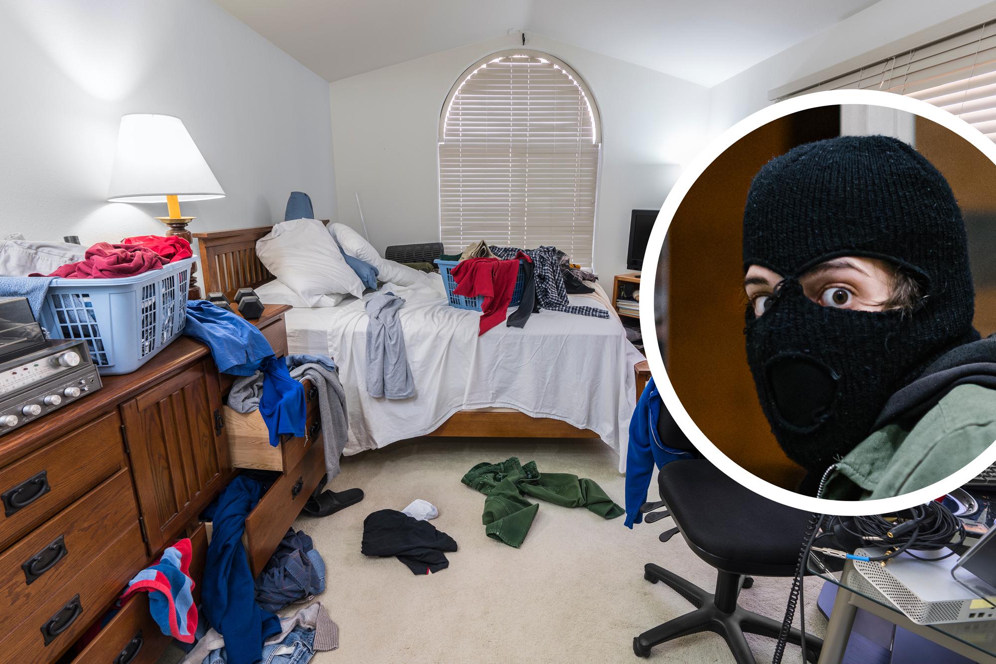 Konnte das Chaos nicht ertragen: Einbrecher räumt Wohnung von Junggeselle auf