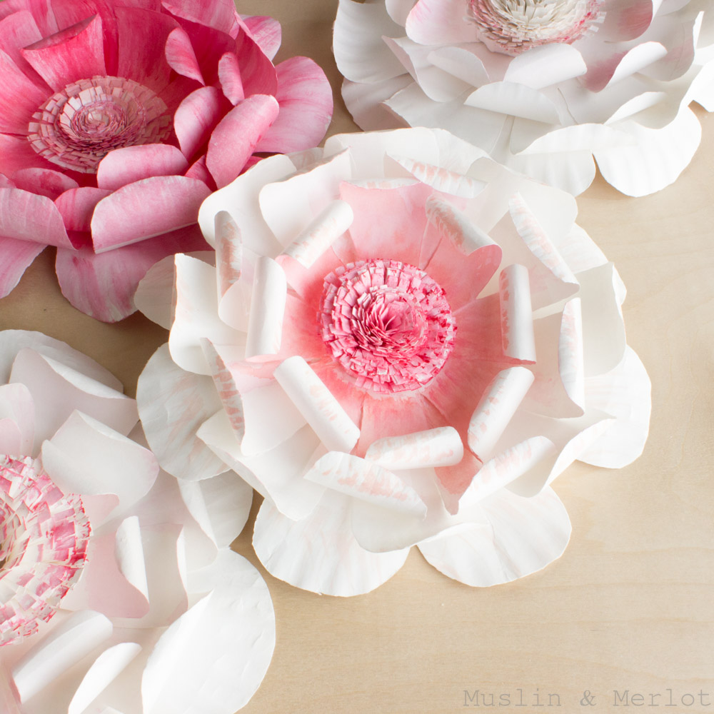 Paper Plate Flowers Muslin And Merlot