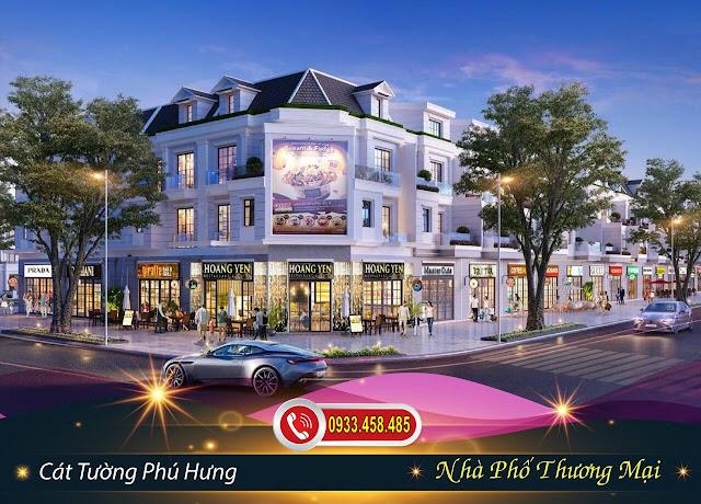 Mẫu nhà phố thương mại tại dự án Khu Đô Thị Phức Hợp & Cảnh Quan Cát Tường Phú Hưng