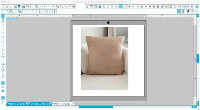 Silhouette Studio, Silhouette tutorial, Silhouette Cameo, mock-ups, mock ups, burlap pillow case