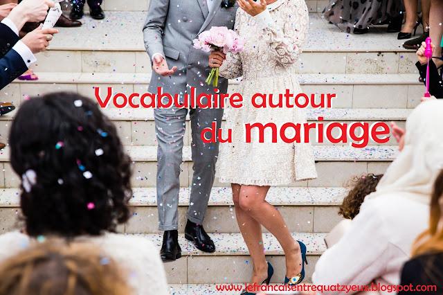 vocabulaire autour du mariage en français