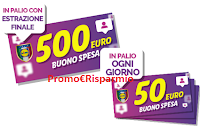 Logo Concorso gratuito ''500Mila LIDL'': vinci 28 buoni spesa da 50€ e 1 da 500€