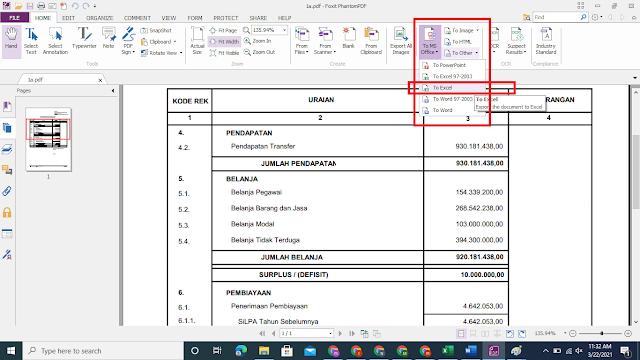 Cara Print To File Di Siskeudes ke Format Excel Terbaru