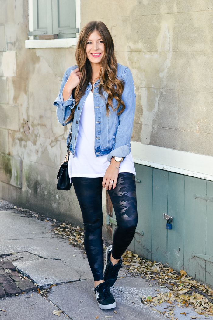Camouflage Spanx Faux Leather Leggings - Chasing Cinderella