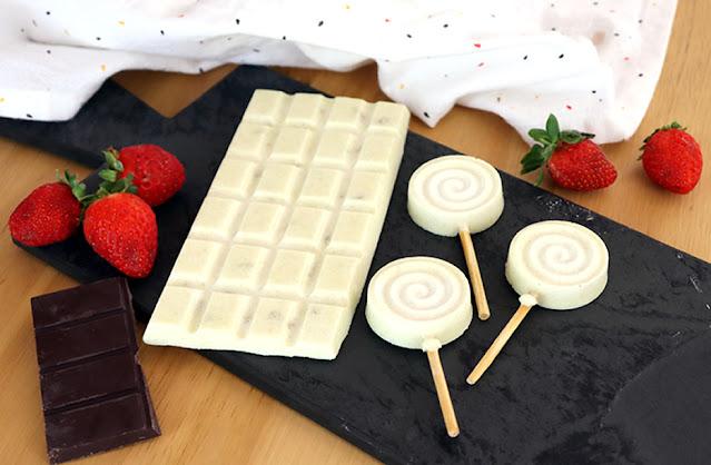 Chocolate branco de óleo de coco vegano