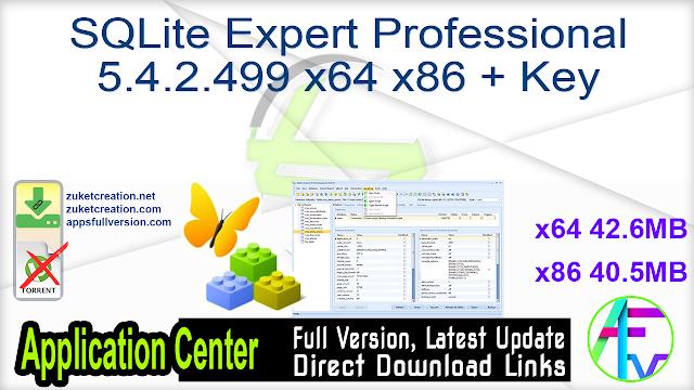SQLite Expert Professional 5.4.2.499 x64 + Key