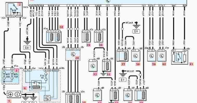 2001-2003 peugeot 307 wiring diagram