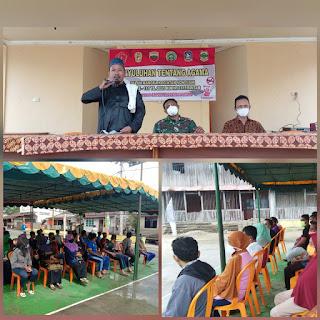 Dalam rangka kegiatan non fisik TMMD ke 111 ta. 2021 kodim 0315/Bintan lakukan Penyuluhan Tentang Agama
