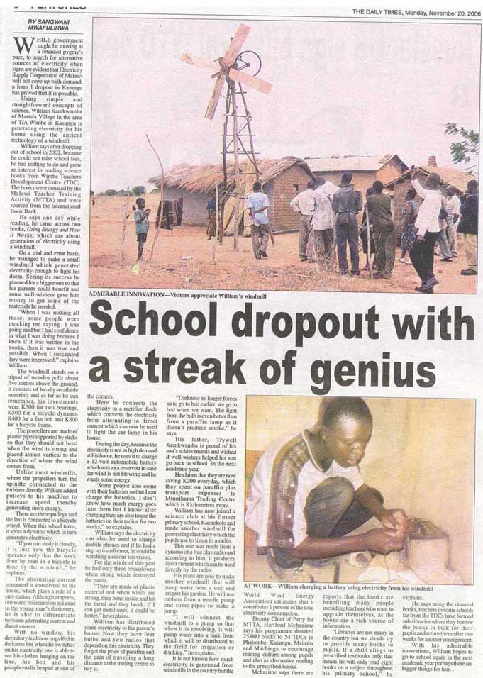 Poverty Issues: School dropout with a streak genius
