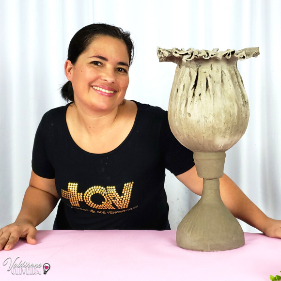vaso de cimento - how to make cement vase