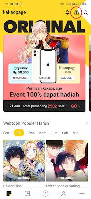 Cara Mendapatkan Saldo Gopay Rp50.000 dari Aplikasi Kakaopage Android