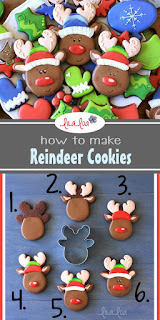 best reindeer decorated sugar cookies - cookie decorating tutorial
