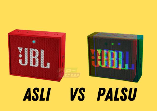 perbedaan JBL GO asli dan palsu (KW)
