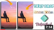 Alight motion text drop down tutorial | alight motion video editing | alight motion text animation