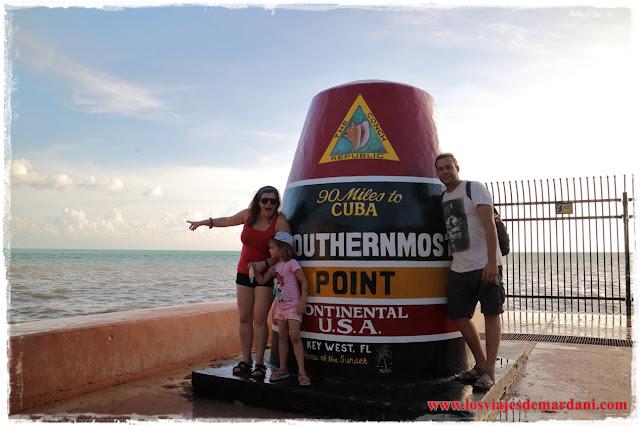 El punto más cercano a Cuba en Key West