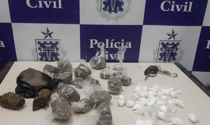 Polícia Civil de Coité prende dois indivíduos a bordo de veículo com drogas