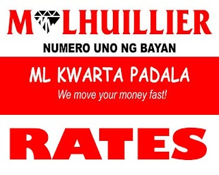 ML (M Lhuillier) Kwarta Padala Rates / Charges - 2019