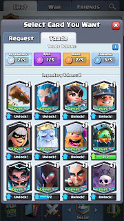 intercambiar cartas clash royale
