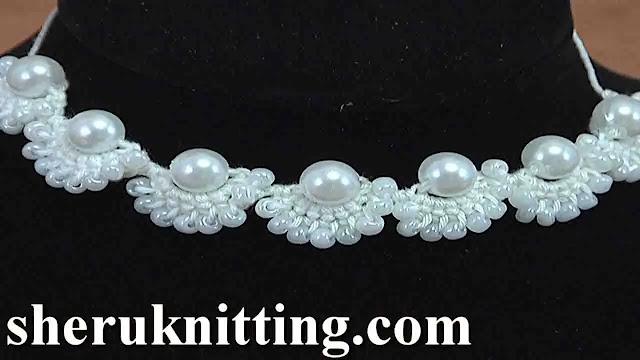 Collar con Perlas a Crochet