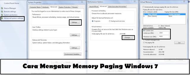 memory paging win 7
