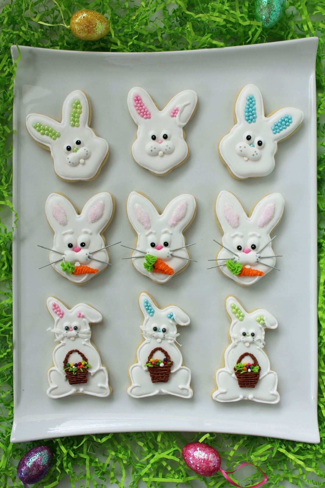 Worth Pinning Easter Bunny Sugar Cookies