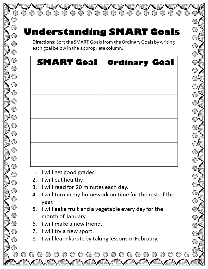 small resolution of Goal Setting for Your Future--8th grade lessons - The Middle School  Counselor