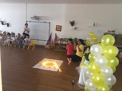 Tổ chức sinh nhật bé Thái An tại trường Mầm Non Finger Fly School