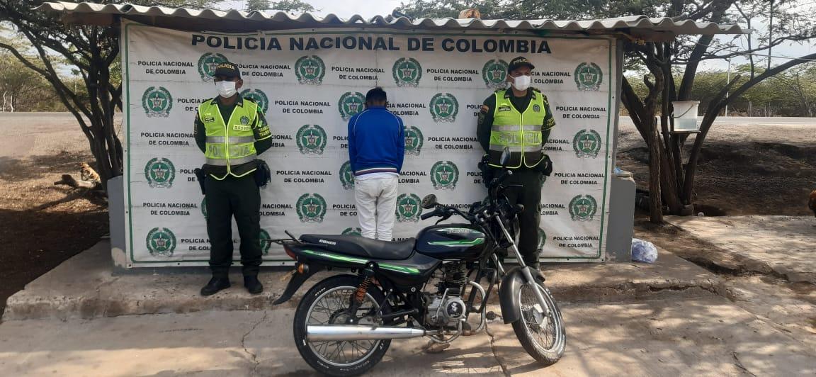 hoyennoticia.com, Capturado en Maicao con una moto robada en diciembre del 2016