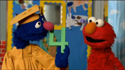 Elmo and Professor Grover number 4. Sesame Street Preschool is Cool Counting With Elmo