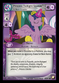 My Little Pony Princess Twilight Sparkle, A Born Leader Equestrian Odysseys CCG Card