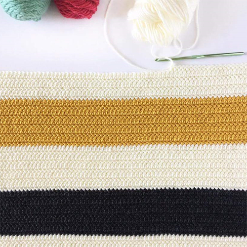 Herringbone Half Double Crochet Stitch - Tutorial