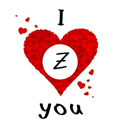 A to Z Alphabet in Stylish Unique font inside heart I Love You Dpz