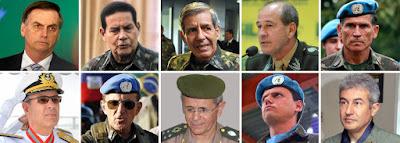 Militares no poder em 2019