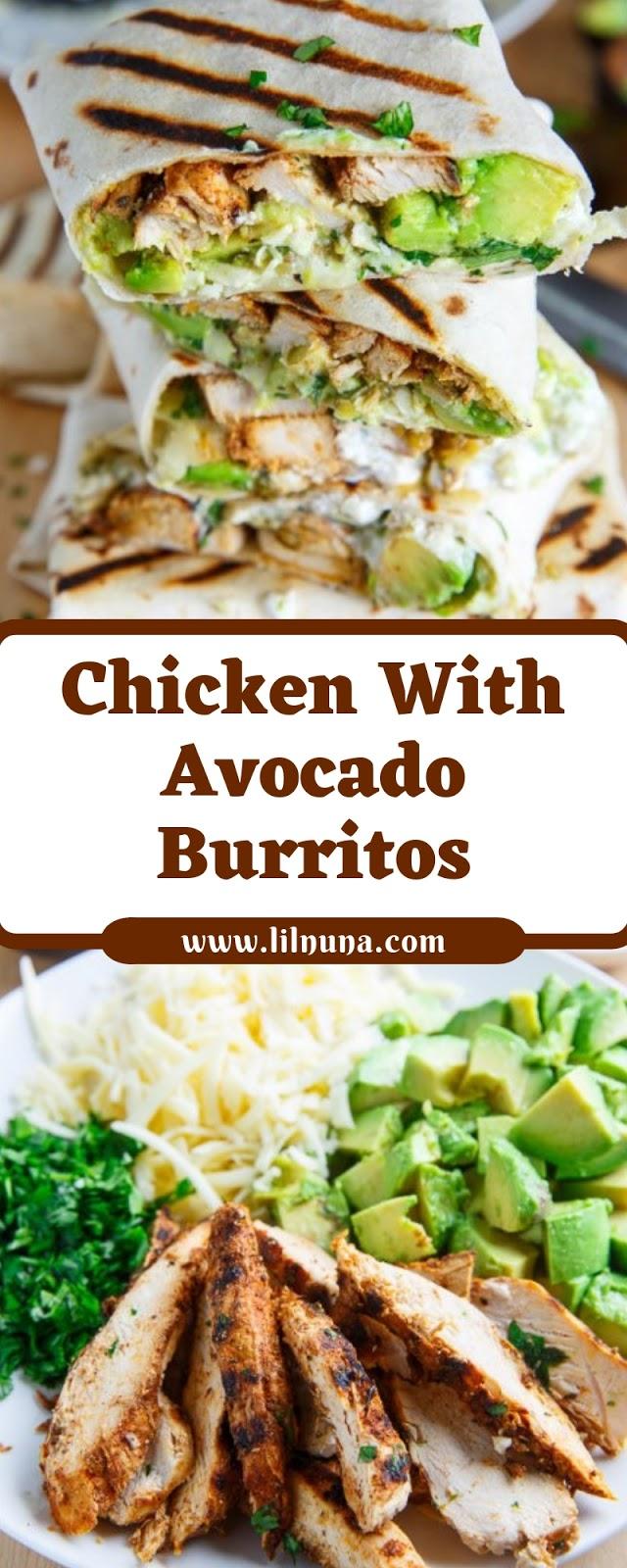Chicken With Avocado Burritos