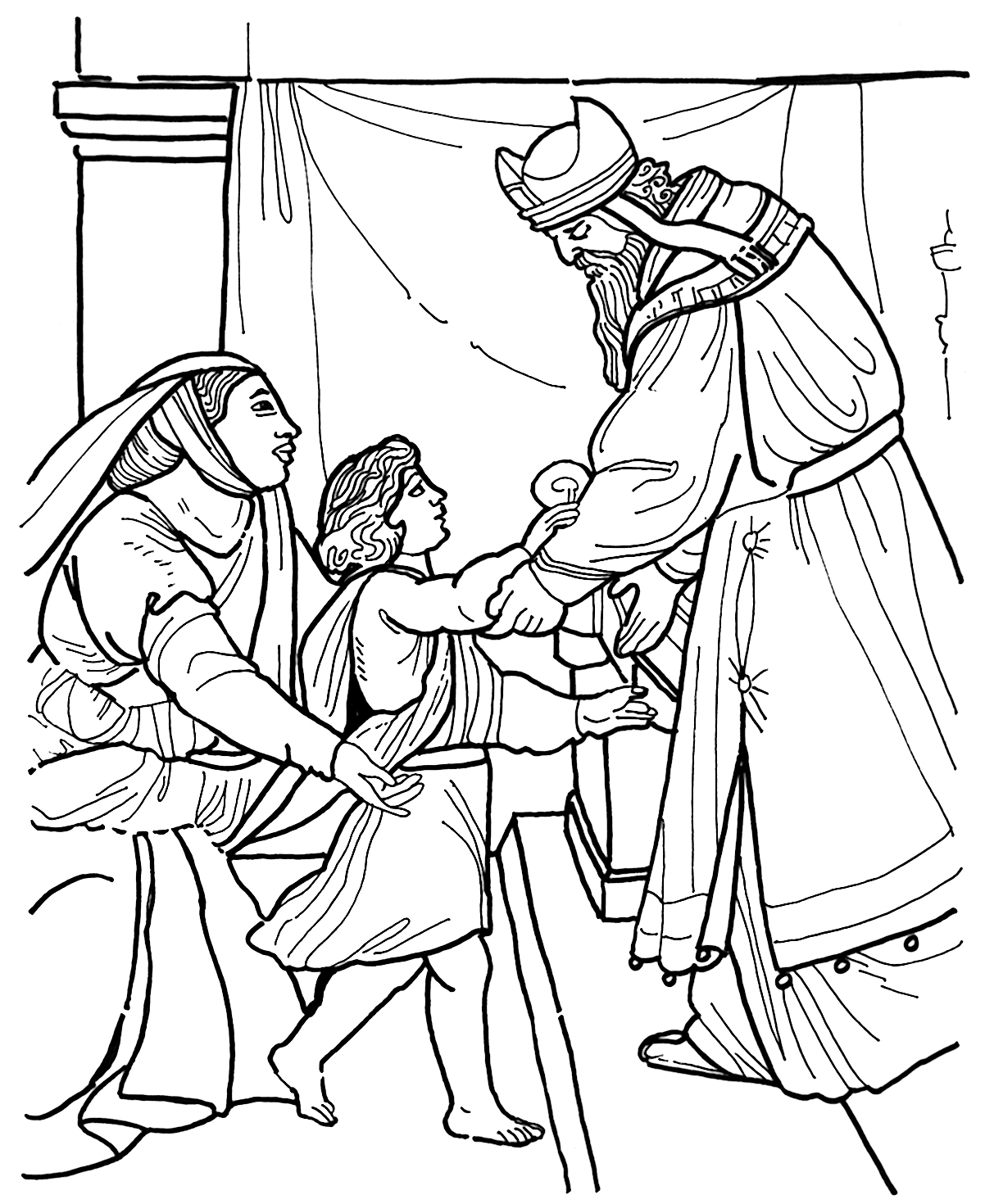 bible story coloring pages samuel-#20