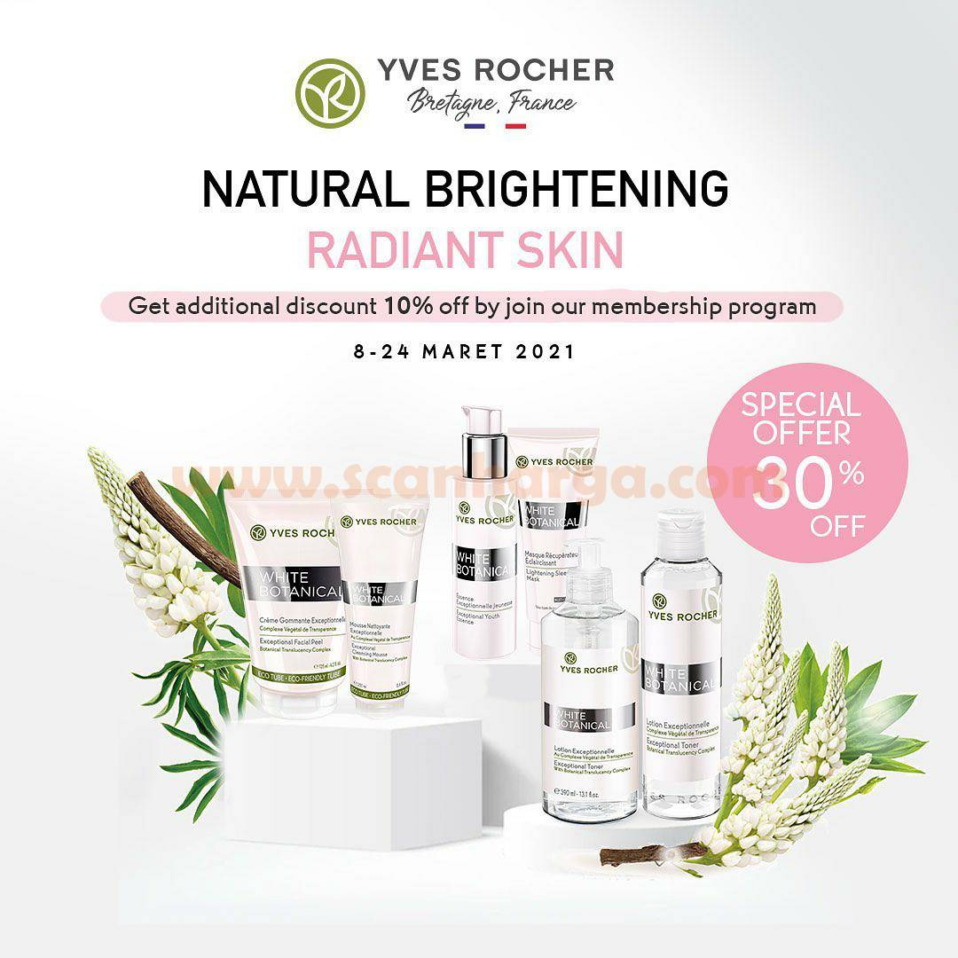 Yves Rocher Promo Special Disc. 30% Off - For All Products Radiance-Boosting