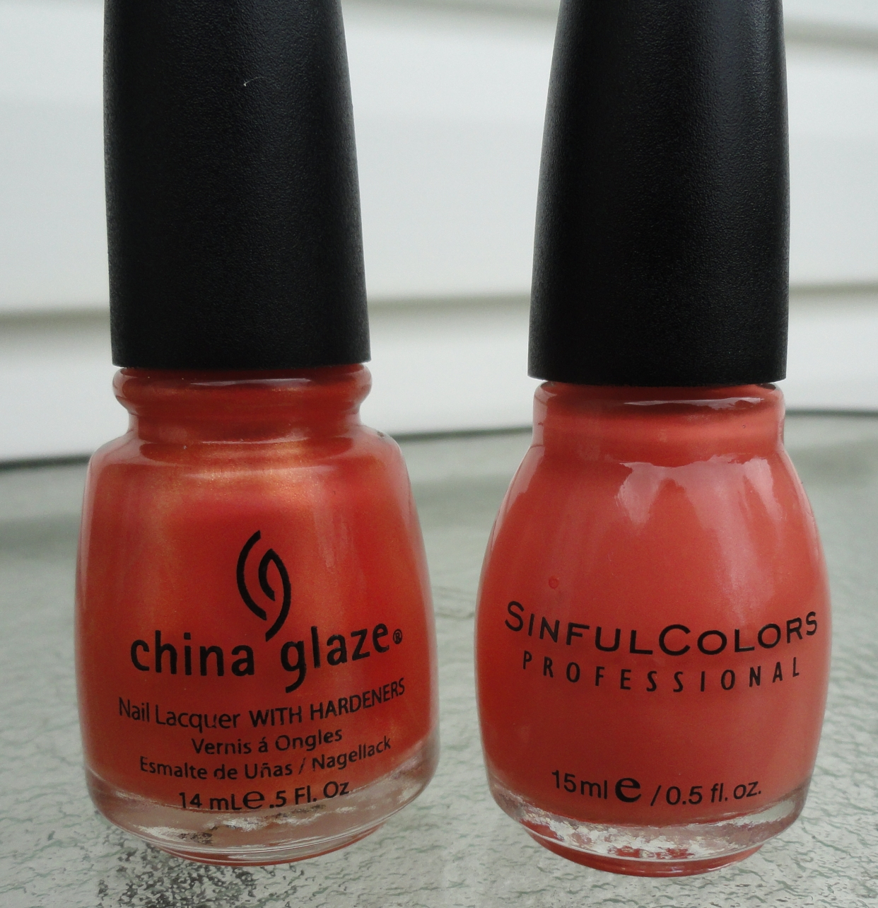 Elemental Styles China Glaze Vs Sinful Colors Blues And Peaches