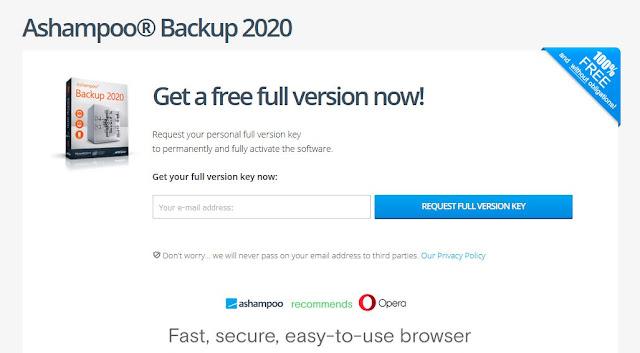 Ashampoo backup 2020 pro key