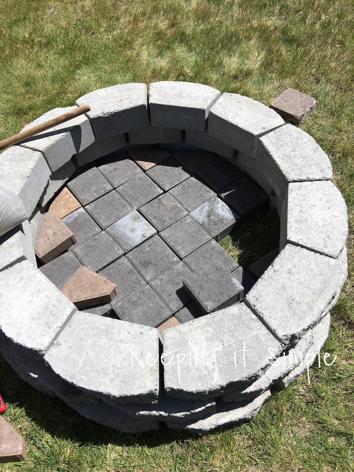 - How To Build A DIY Fire Pit For Only $60 • Keeping It Simple