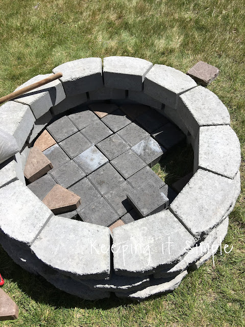 Keeping it simple how to build a diy fire pit for only 60 for Make a fire pit cheap